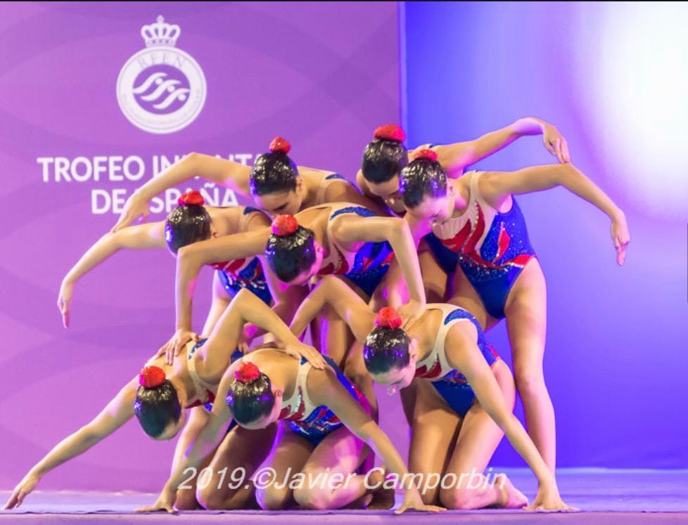 Equipo del Club de Natación Sincronizada Sevilla.